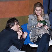 NLD/Den Haag/20131209 - Premiere de Kleine Blonde Dood, Celine Huismans en cameraman Jaap Hoekstra