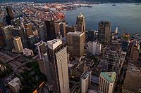 Downtown Seattle between Interstate 5 & Elliott Bay