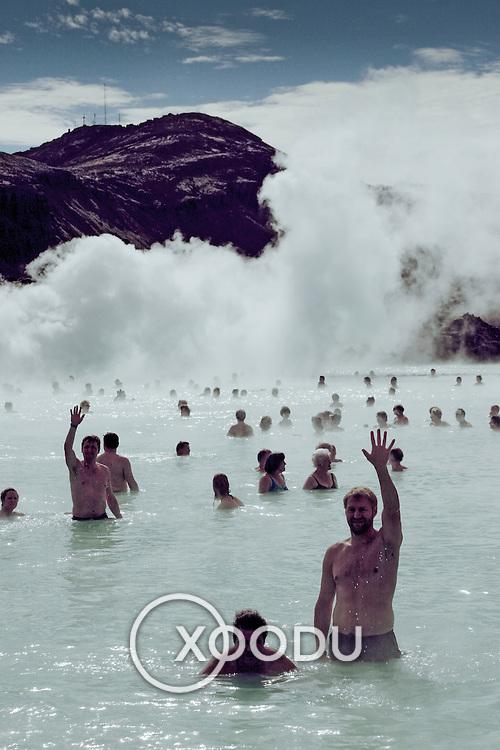 The Blue Lagoon (Geothermal baths), Blue Lagoon, Iceland (August 2006)