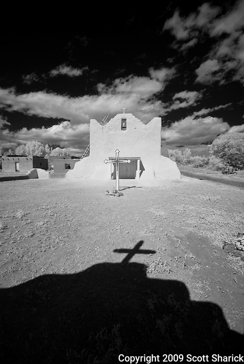The San Lorenzo Church in Picuris Pueblo, New Mexico.