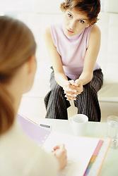 Dec. 14, 2012 - Two women on a job interview (Credit Image: © Image Source/ZUMAPRESS.com)