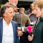 NLD/Amsterdam/20160830 - Nieuw TAG Hauer horloge, Jan Lammers wordt geinterviewd door Pownews