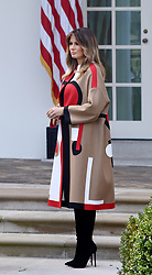 First lady Melania Trump attends the National Thanksgiving Turkey pardoning ceremony in the Rose Garden of the White House in Washington, DC on November 20, 2018. Photo by Olivier Douliery/ABACAPRESS.COM