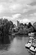 Cookham, Berkshire. United Kingdom.  General Views, Cookham High Street, John Lewis Heritage Centre and Odney Club. Ferry Hotel River Thames.<br /> <br /> Thursday.  10.08.2017.<br /> <br /> <br /> [Mandatory Credit. Peter SPURRIER Intersport Images}. Note. Leica M6.  Summilux 50mm, f1.4. Film B/W, TMax 100. Dev; 100/1 Agfa Rodinal. 60 min dev time. [Standing]