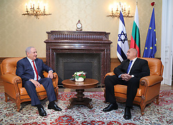 November 1, 2018 - Varna, Bulgaria - The Bulgarian Prime minister, Boyko Borisov, (R) received for a meeting the Prime minister of Israel Benjamin Netanyahu, (L) in Euxinograd residence in Varna, Bulgaria on November 01, 2018 Picture by: (GIS)GOVERNMENTAL INFORMATIONAL SERVICE, BULGARIA  (Credit Image: © Hristo Rusev/NurPhoto via ZUMA Press)