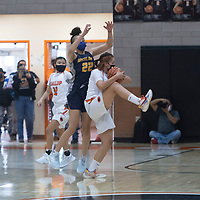 Gallup Bengal Jordan Joe (34) intercepts an inbounds pass during the final seconds of their New Mexico Class 4A girls basketball quarterfinal game against the Highland Hornets Tuesday in Gallup. The Bengals defeated the Hornets 53-51.