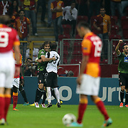 Braga's players celebrates his goal during their UEFA Champions League Group H matchday 2 soccer match Galatasaray between Braga at the TT Arena Ali Sami Yen Spor Kompleksi in Istanbul, Turkey on Tuesday 02 October 2012. Photo by Aykut AKICI/TURKPIX