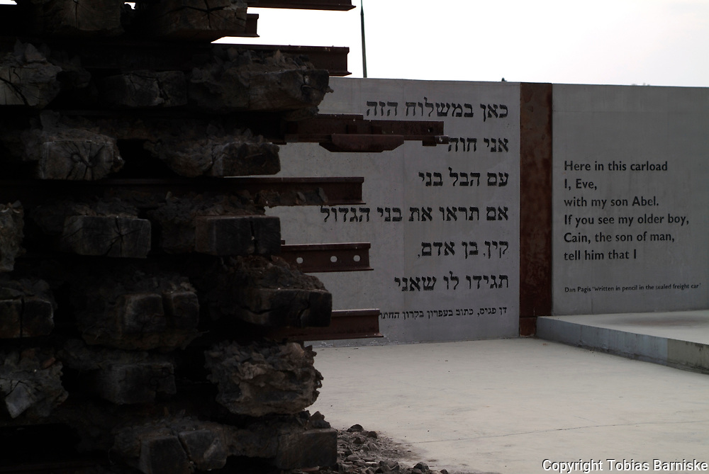 The memorial at the former site of the Bełżec extermination camp. The camp was open from March until December 1942. During this time, the Germans killed approx. 500.000 Jews. The memorial was built in 2004.