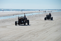 Racing on the beach during The Race of Gentlemen. Wildwood, NJ, USA. October 11, 2015.  Photography ©2015 Michael Lichter.