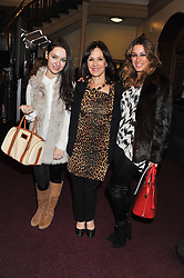 ARLENE PHILLIPS and her daughters ABI & ALANA attend the premier of 2012 Cirque du Soleil's Totem at the Royal Albert Hall, London on 5th January 2012,