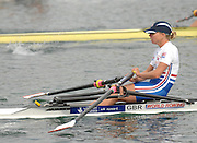 Munich, GERMANY, 28.08.2007, GBR LW1X, Andrea DENNIS. Third day on the  Munich Olympic Regatta Course, venue for 2007 World Rowing Championship, Bavaria. [Mandatory Credit. Peter Spurrier/Intersport Images]..... , Rowing Course, Olympic Regatta Rowing Course, Munich, GERMANY