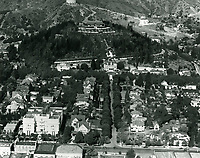 1925 Aerial view of Rolin Lane residence on Franklin Ave. Now known as the Magic Castle