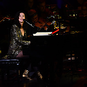 Laila Biali is a Canadian jazz singer and pianist preforms at Jazz Voice - Festival opening gala at Royal Festival Hall on 16 Nov 2018, London, UK.