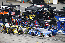 July 22, 2018 - Loudon, New Hampshire, United States of America - Ricky Stenhouse, Jr (17) comes down pit road for service during the Foxwoods Resort Casino 301 at New Hampshire Motor Speedway in Loudon, New Hampshire. (Credit Image: © Justin R. Noe Asp Inc/ASP via ZUMA Wire)