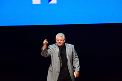 November 5, 2016 - Philadelphia, Pennsylvania, United States - US Congressional Representative Bob Brady works the crowd for Hillary. Hillary Clinton made a campaign stop in Philadelphia's Mann Center for the Performing Arts accompanied by pop star Katy Perry, who sang several of her classic stand-bys, including ''Roar!'' which has been used by the Clinton campaign in their appeals. Prior to the candidate's appearance, the audience heard from Senator Corey Booker, US Representative Bob Brady, Senatorial candidate Katie McGinty and actress Debra Messing. TV producer Shonda Rimes introduced Mrs. Clinton to packed & enthusiastic crowd. (Credit Image: © Andy Katz/Pacific Press via ZUMA Wire)