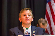 21 MAY 2012 - PHOENIX, AZ:  PAUL GOSAR (R AZ 1)  at the US House of Representatives Committee on Homeland Security, Subcommittee on Border and Maritime Security meeting Monday in Phoenix to talk about ways to improve information-sharing among government law enforcement agencies to thwart the flow of illicit drugs from Mexico into Arizona. Republican Congressman Paul Gosar and Ben Quayle, both from Arizona, and Democratic Congresswoman Sheila Jackson Lee, from Texas, attended the meeting.             PHOTO BY JACK KURTZ