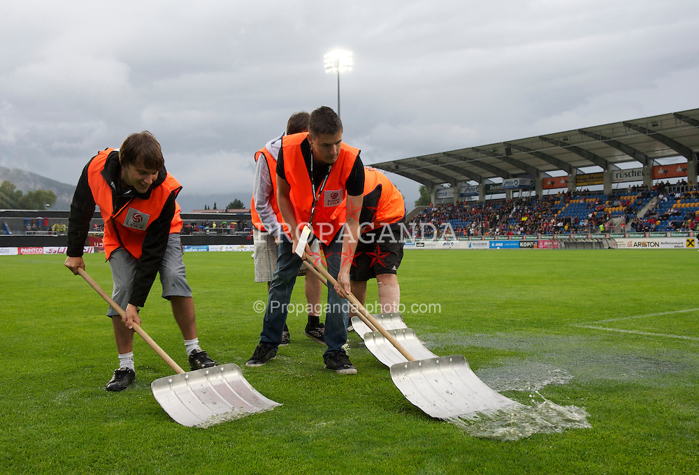 ALTACH, AUSTRIA - Saturday, July 17, 2010: Liverpool's xxxx in action against Al-Hilal during the Reds' first preseason match of the 2010/2011 season at the Cashpoint Arena. (Pic by David Rawcliffe/Propaganda)