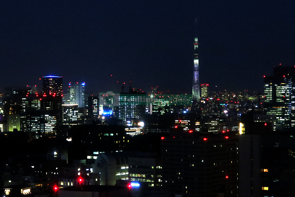 May 23, 2019 - Tokyo, Japan - Tokyo Sky Tree, standing at 634 metres, and high rise buildings are pictured in Tokyo, Japan May 25, 2019. (Credit Image: © Hitoshi Yamada/NurPhoto via ZUMA Press)