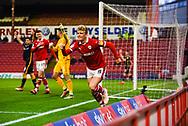 Cameron McGeehan of Barnsley (8) scores a disallowed goal due to handball during the EFL Sky Bet League 1 match between Barnsley and Bradford City at Oakwell, Barnsley, England on 12 January 2019.