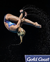 Malaysia Kimberly Qian Bong duriing  Women's 10m Platform at the Optus Aquatic Centre during day eight of the 2018 Commonwealth Games in the Gold Coast, Australia. PRESS ASSOCIATION Photo. Picture date: Thursday April 12, 2018. See PA story COMMONWEALTH Diving. Photo credit should read: Danny Lawson/PA Wire. RESTRICTIONS: Editorial use only. No commercial use. No video emulation.