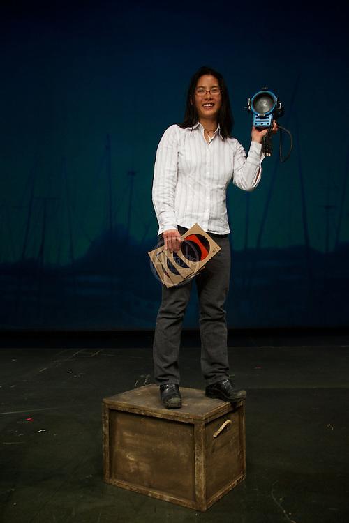 Portrait of lighting designer Connie Yun.