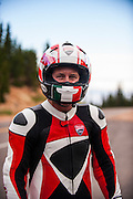 Ducati and Audi private video/photoshoot on Pikes Peak before Pikes Peak Hill Climb 2012. Photos and video fro Social Media campaign #Cometogether and makes the first time Audi and Ducati have been showcased together since Audi bought the Italian motorcycle company. ,Greg Tracy