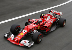 November 11, 2017 - Brazil - SAO PAULO, SP - 11.11.2017: QUALIFYING PARA GP F1 - Kimi Raikkonen of Ferrari during the qualifying session this afternoon, valid for the dispute of the Brazilian Grand Prix of Formula 1, that happens this Sunday, 12. (Credit Image: © Fotoarena via ZUMA Press)