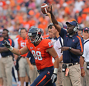 Sept. 3, 2011 - Charlottesville, Virginia - USA; Virginia Cavaliers tight end Paul Freedman (88) moves on the field during an NCAA football game against William & Mary at Scott Stadium. Virginia won 40-3. (Credit Image: © Andrew Shurtleff