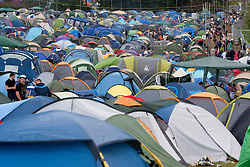 Campsite..Rockness, Sunday, 12th June 2011..RockNess 2011, the annual music festival which takes place in Scotland at Clune Farm, Dores, on the banks of Loch Ness near Inverness..Pic ©2011 Michael Schofield. All Rights Reserved..