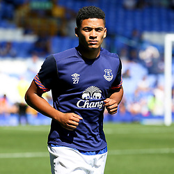 Everton's Tyias Browning warms up - Mandatory byline: Matt McNulty/JMP - 07966386802 - 08/08/2015 - FOOTBALL - Goodison Park -Liverpool,England - Everton v Watford - Barclays Premier League