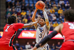 Dec 1, 2018; Morgantown, WV, USA; West Virginia Mountaineers guard James Bolden (3) looks to pass during the second half against the Youngstown State Penguins at WVU Coliseum. Mandatory Credit: Ben Queen-USA TODAY Sports