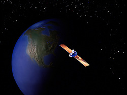 communication satellite circles earth galaxy outerspace north america continent passing of time night day CONCEPT STOCK PHOTOS
