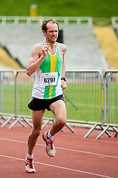 Sheffield Half Marathon second man home Sunday Morning..12 May 2013.Image © Paul David Drabble