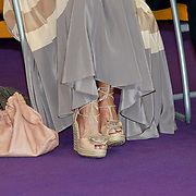 NLD/Huizen/20110429 - Lintjesregen 2011, schoenen van Linda de Mol