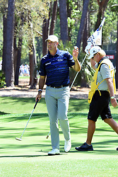 April 12, 2018 - Hilton Head Island, South Carolina, U.S. - HILTON HEAD ISLAND, SC - APRIL 12: Stewart Cink,  during the first round of the RBC Heritage on April 12, 2018 at Harbour Town Golf Links in Hilton Head Island, SC. (Photo by Theodore A. Wagner/Icon Sportswire) (Credit Image: © Theodore A. Wagner/Icon SMI via ZUMA Press)