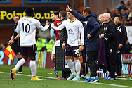 Everton's Ross Barkley replaces Everton's Romelu Lukaku. Barclays Premier league match, Burnley v Everton at Turf Moor in Burnley, Lancs on Sunday 26th October 2014.<br /> pic by Chris Stading, Andrew Orchard sports photography.