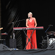 Jazz Morley perform live at Kew The Music Festival 2018 on 15 July 2018 at Kew garden, London, UK.