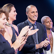 NLD/Amsterdam/20171030 - Holland Next Top Model 2017 finale Edine Russel, Kim Feenstra, Nigel Barker en Jean Paul Paula