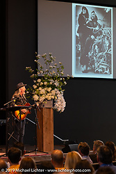 Pat Simmons of the Doobie Brothers, an old friend of Arlen's, sang a song dedicated to Arlen's wife Beverly at the Arlen Ness Memorial - Celebration of Life at the CrossWinds Church, Livermore, CA, USA. Saturday, April 27, 2019. Photography ©2019 Michael Lichter.