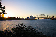 Sunset at Mrs Macquarie's Chair of Sydney Harbour, Bridge & Opera House, Sydney, Australia-8 March 2010.Paul Lovelace Photography