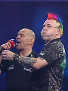 Peter Wright reaction after missing a dart at a double during the PDC William Hill World Darts Championship Semi-Final at Alexandra Palace, London, United Kingdom on 30 December 2019.