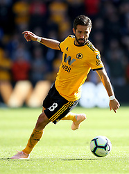 """Wolverhampton Wanderers' Joao Moutinho during the Premier League match at Molineux, Wolverhampton. PRESS ASSOCIATION Photo. Picture date: Saturday September 29, 2018. See PA story SOCCER Wolves. Photo credit should read: Nick Potts/PA Wire. RESTRICTIONS: EDITORIAL USE ONLY No use with unauthorised audio, video, data, fixture lists, club/league logos or """"live"""" services. Online in-match use limited to 120 images, no video emulation. No use in betting, games or single club/league/player publications."""