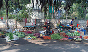 Selling vegetables at Jabalpur Road, Jabalpur, Madhya Pradesh, India.