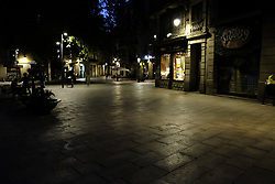 August 18, 2017 - unknown - Barcelona, Spain, August 17, 2017, late afternoon : view of the Plaza del PI near the Rambla of Barcelona after a white van running over tourist pedestrians walking down the Rambla in the same style of the Nice or London terrorist attack in 2016 and 2017. Photo credit : Marc Javierre-Kohan / Aurimages (Credit Image: © Marc Javierre Kohan/Aurimages via ZUMA Press)