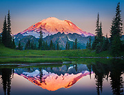 Mount Rainier from Tipsoo Lake