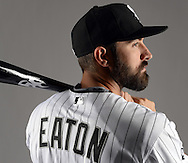 GLENDALE, ARIZONA - FEBRUARY 27:  Adam Eaton #1 of the Chicago White Sox poses for a portrait during photo day on February 27, 2015 at Camelback Ranch in Glendale Arizona.  (Photo by Ron Vesely)    Subject:  Adam Eaton