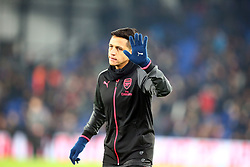 December 28, 2017 - London, England, United Kingdom - Arsenal's Alexis Sanchez during the pre-match warm-up during Premier League  match between Crystal Palace and Arsenal at Selhurst Park Stadium, London,  England 28 Dec 2017. (Credit Image: © Kieran Galvin/NurPhoto via ZUMA Press)