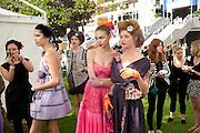 KEATS; HEIDE LINDGREN,WEARING LUELLA, Fashion shows in the Besborough Restaurant during Ascot week. Ascot. Tuesday 16 June 2009.