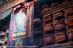 A Buddhist monastery in Marpha during Motorcycle Sherpa's Ride to the Heavens motorcycle adventure in the Himalayas of Nepal. On the fourth day of riding, we went from Kalopani to Muktinath. Thursday, November 7, 2019. Photography ©2019 Michael Lichter.