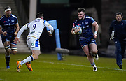 Sale Sharks Ewan Ashman during a Gallagher Premiership Round 9 Rugby Union match, Friday, Feb 12, 2021, in Leicester, United Kingdom. (Steve Flynn/Image of Sport)